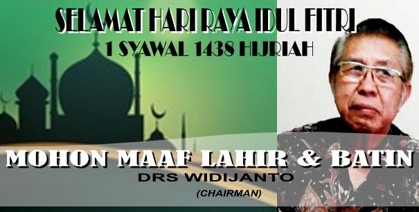 Selamat Idul Fitri 1 Syawal 1438 Hijriah…