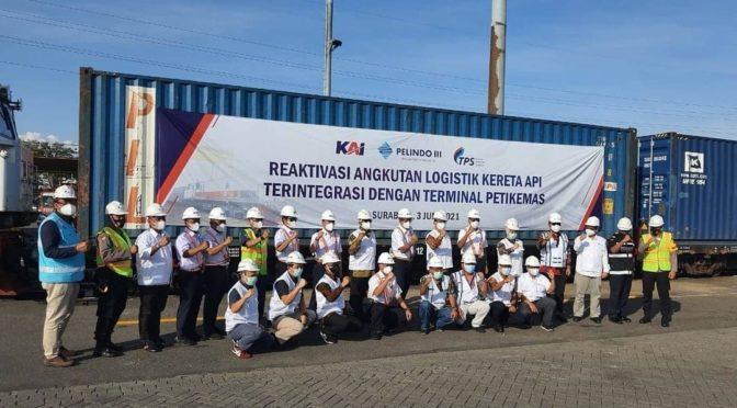 Bikin Efisien, Reaktivasi Layanan KA Logistik Priok-Surabaya Didukung